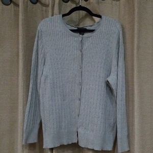 Heather Gray Button Down Sweater, Lane Bryant